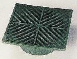 Square Green Grate