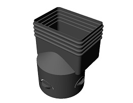 "4 x 6 x 6"" Downspout Adapter"