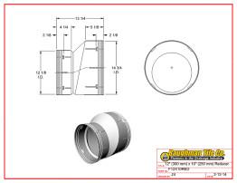 """12"""" (300 mm) x 10"""" (250 mm) Reducer"""