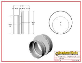 """15"""" (375 mm) x 12"""" (300 mm) Reducer"""