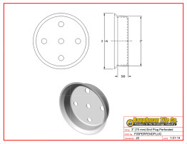 "3"" (75 mm) End Plug Perforated"