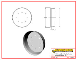 "4"" (100 mm) End Plug Perforated"