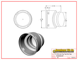 """4"""" (100 mm) Top Hat Clay Plug/Endcap"""