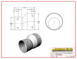 """4"""" (100 mm) x 3"""" (75 mm) Reducer"""