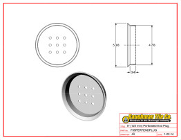 "5"" (125 mm) Perforated End Plug"