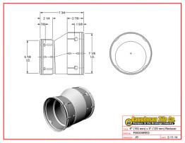 """6"""" (150 mm) x 5"""" (125 mm) Reducer"""