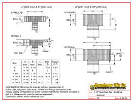 """4-10"""" Dual Wall Tee - Bell End External"""