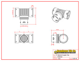"4"" (100 mm) Internal Coupler Tee"