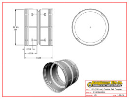 """10"""" (250 mm) Double Bell Coupler"""