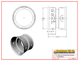 """12"""" (300 mm) Double Bell Coupler"""