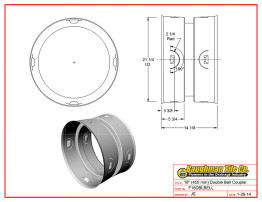 """18"""" (450 mm) Double Bell Coupler"""