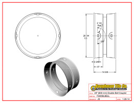 """24"""" (600 mm) Double Bell Coupler"""