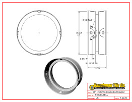 """30"""" (750 mm) Double Bell Coupler"""