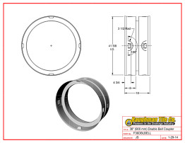 """36"""" (900 mm) Double Bell Coupler"""