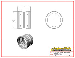 """4"""" (100 mm) Double Bell Coupler"""