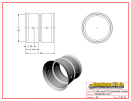 "6"" (150 mm) F477 Double Bell Coupler"