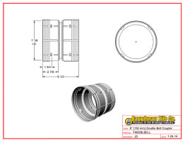 """6"""" (150 mm) Double Bell Coupler"""