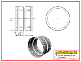 """8"""" (200 mm) Double Bell Coupler"""