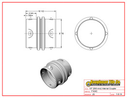 "10"" (250 mm) Internal Coupler"