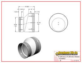 """10"""" (250 mm) x 8"""" (200 mm) Reducer"""