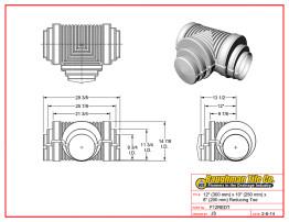 "12"" (300 mm) x 10"" (250 mm) x 8"" (200 mm) Reducing Tee"
