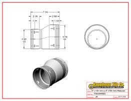 """5"""" (125 mm) x 4"""" (100 mm) Reducer"""
