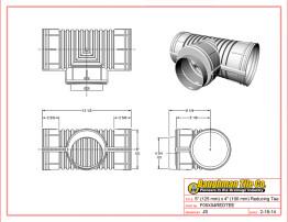 "5"" (125 mm) x 4"" (100 mm) Reducing Tee"