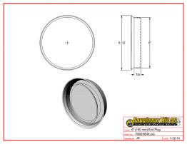 """6"""" (150 mm) End Plug"""
