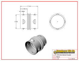 "6"" (150 mm) Internal Coupler"