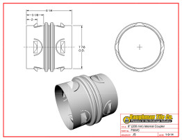 "8"" (200 mm) Internal Coupler"