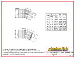 """12-48"""" Dual Wall 22.5° Elbow - Inline Bell End External"""