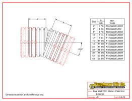 Dual Wall 22.5° Elbow - Plain End External