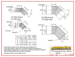 "4-10"" Dual Wall 45° Elbow - Bell End External"