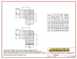 """12-48"""" Dual Wall 90° Elbow - Inline Bell End External"""