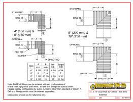 "4-10"" Dual Wall 90° Elbow - Bell End External"