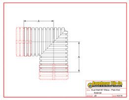 Dual Wall 90° Elbow - Plain End External