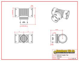 """4"""" (100 mm) Internal Coupler Tee"""