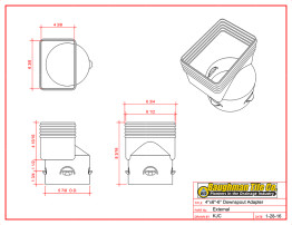 4 x 6 x 6 Downspout Adapter